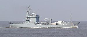 Elbe-class replenishment ship - Image: Cuxhaven marine 02