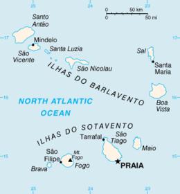 Capo Verde - Mappa