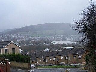Cwmbach village in Rhondda Cynon Taf, Wales
