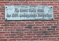 Düsseldorf, Palais Spee, Erinnerungsplakette an das Bergerthor, 2012 (1).jpg