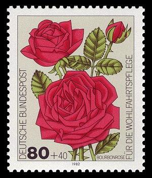 Henri Antoine Jacques - German postage stamp, series for social welfare 1982, cultivar roses
