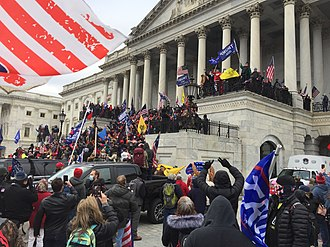 Trump supporters crowding the steps of the Capitol DC Capitol Storming IMG 7965.jpg