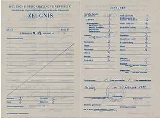 Education in East Germany - East German Mark report
