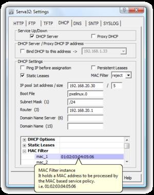 English: DHCP Server
