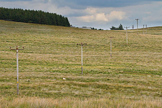 Dartmoor Preservation Association - Walkhampton Common pylons and power cables before undergrounding
