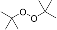 Chemical structure of di-tert-butyl peroxide