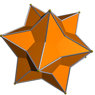 Medial rhombic triacontahedron polyhedron with 30 faces