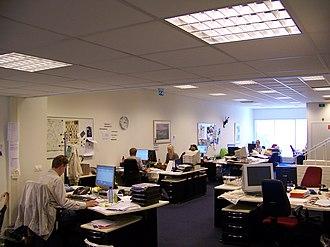 Dagblad van het Noorden - Editorial office of Dagblad van het Noorden in Emmen in 2007