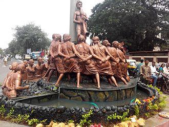 Dahanu - Traditional Dance Tarpa Statue, Sagar Naka, Dahanu