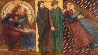 <i>Paolo and Francesca da Rimini</i> watercolour by Dante Gabriel Rossetti