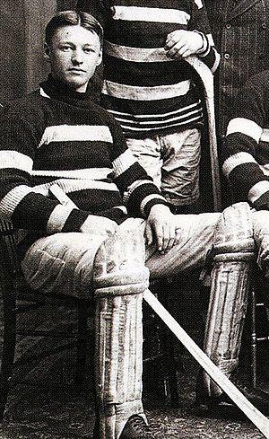 Dave Finnie - Finnie, in Ottawa Silver Seven team photograph, 1905