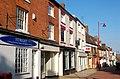 Daventry, sunlit shops in Sheaf Street - geograph.org.uk - 1750857.jpg