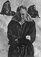 David Lean in Finland while filmin Doctor Zhivago.