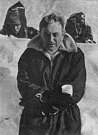 David Lean - Lean in Northern Finland in 1965 while shooting Doctor Zhivago.