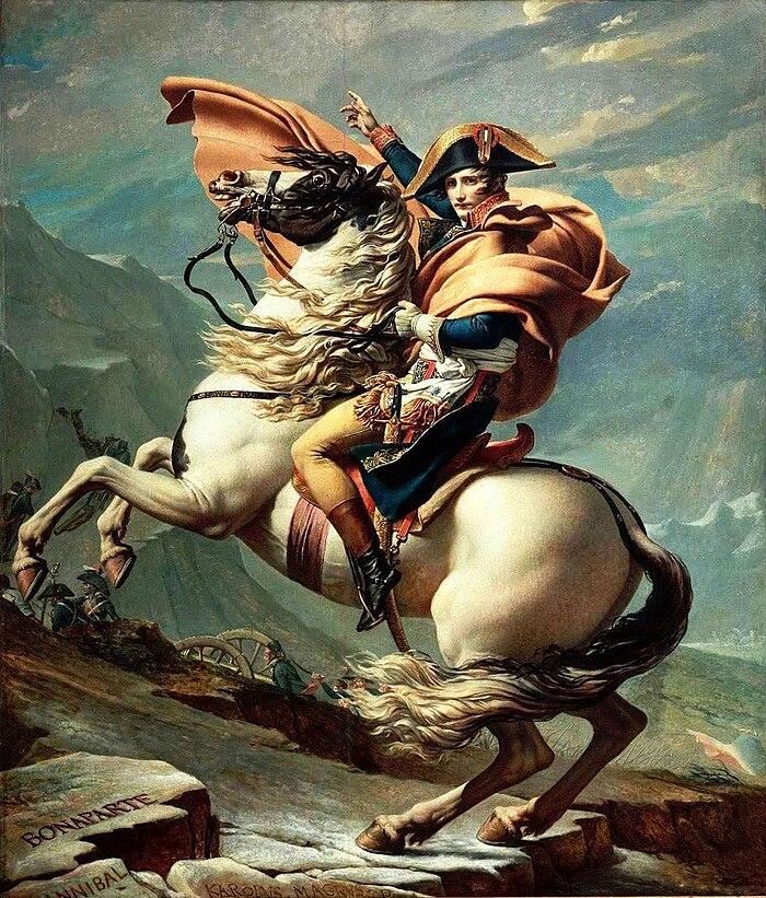 https://upload.wikimedia.org/wikipedia/commons/thumb/3/31/David_-_Napoleon_crossing_the_Alps_-_Malmaison1.jpg/700px-David_-_Napoleon_crossing_the_Alps_-_Malmaison1.jpg