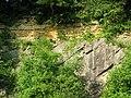 De La Beche Unconformity, Vallis Vale - geograph.org.uk - 836690.jpg
