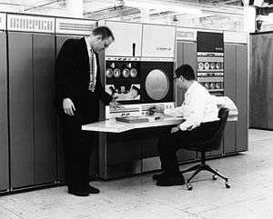 PDP-6 - Gordon Bell and Alan Kotok using a PDP-6 in 1964
