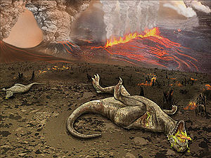 English: extinction of dinosaurs in Deccan Tra...