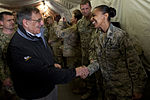 Defense.gov News Photo 120314-D-TT977-164 - Secretary of Defense Leon E. Panetta greets service members transiting into or out of Afghanistan at the Manas Air Base Transit Center Kyrgyzstan.jpg