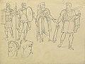 Dehodencq A. - Pencil - Etude de personnages d'après l'antique - 14x18cm.jpg
