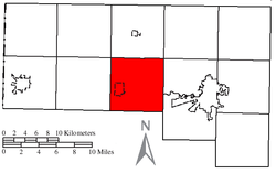 Location of Delaware Township in Defiance County