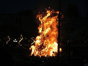 Meskel - Demera engulfed in flames, 2013.