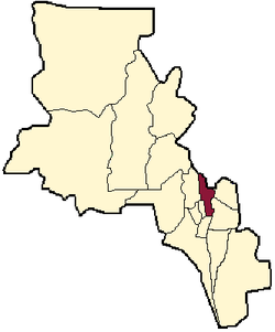 location of Paclín Department in Catamarca Province