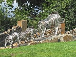 Twrch Trwyth - Twrch Trwyth sculpture by Tony Woodman
