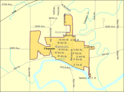 Detailed map of Chapman, Kansas