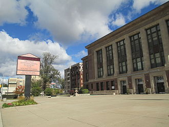Detroit International Academy for Young Women - Image: Detroit International Academy for Young Women sign and building