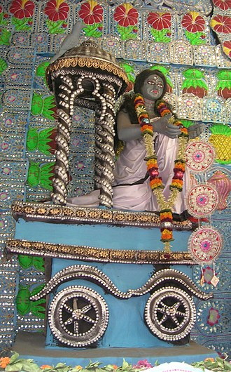 Dhumavati - Dhumavati idol worshipped with other Mahavidyas in a Kali Puja pandal in Kolkata.