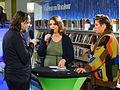 Diana de Groot interviewt Hugo Borst en Margriet van der Linden tijdens BoekenFEST 2016 in Assen.jpg