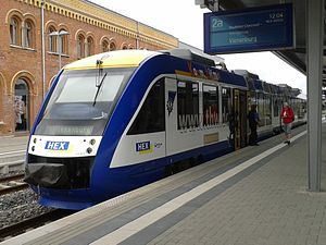 Halberstadt station - Train to Vienenburg (2011)