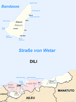 Location of Dili