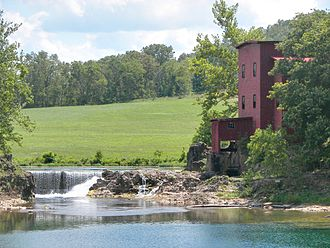 National Register of Historic Places listings in Crawford County, Missouri - Image: Dillard Mill SHS 20090726 02