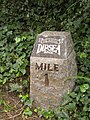 Dipsea Trail, one-mile marker for the annual footrace from Mill Valley to Stinson Beach. - panoramio.jpg