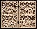 Dittico con l'incoronazione della vergine, lavanda dei piedi, crocifissione e ascensione, fiandre 8attr.), 1370 ca.jpg