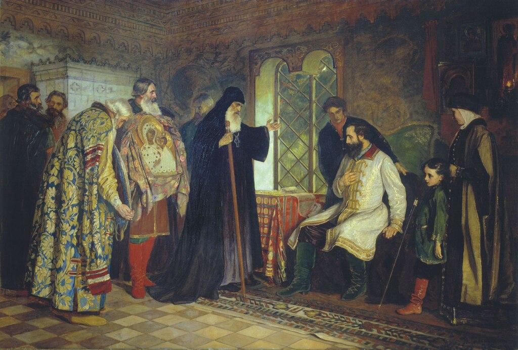 Dmitry Pozharsky and Envoys from Nizhny Novgorod by Vasily Savinksy.jpg