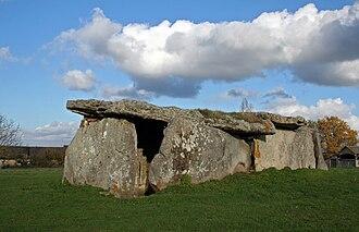 Gennes, Maine-et-Loire - Dolmen of La Madeleine, one of the dolmens visible around Gennes