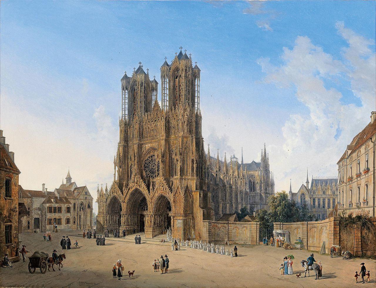 Domenico Quaglio Kathedrale von Reims 1827.jpg