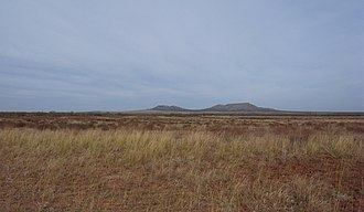 Double Mountains (Texas) - Double Mountains, viewed from the south