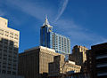 Downtown Raleigh, North Carolina, including the city's new tallest building - RBC Plaza.jpg