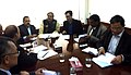 Dr. Jitendra Singh holding a meeting with Ananthkumar, Kiren Rijiju and senior DoNER officials.jpg