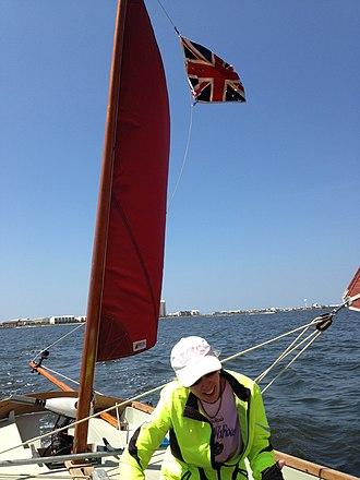 "Drascombe - Drascombe Lugger ""OnKaHyE"" sailing Santa Rosa Sound Florida"