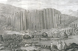 Giant's Causeway - Engraving of Susanna Drury's A View of the Giant's Causeway: East Prospect, 1768