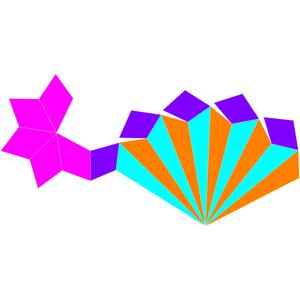 Pentagonal rotunda - Image: Dual pentagonal rotunda net