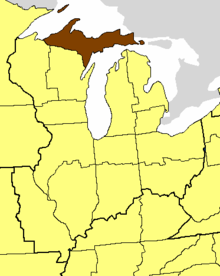 Location of the Diocese of Northern Michigan