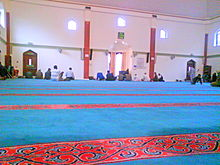 Colour photograph of the mosque interior