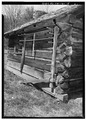 EXTERIOR, DAVID SHIELDS CABIN,(REAR), SOUTHEAST VIEW - Henry Whitehead Place, Townsend, Blount County, TN HABS TENN,5-CADCO.V,1-5.tif