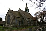 Eaton church. Without dedication, this little church (by Shaw of Manchester in 1860) serves the small hamlet of Eaton
